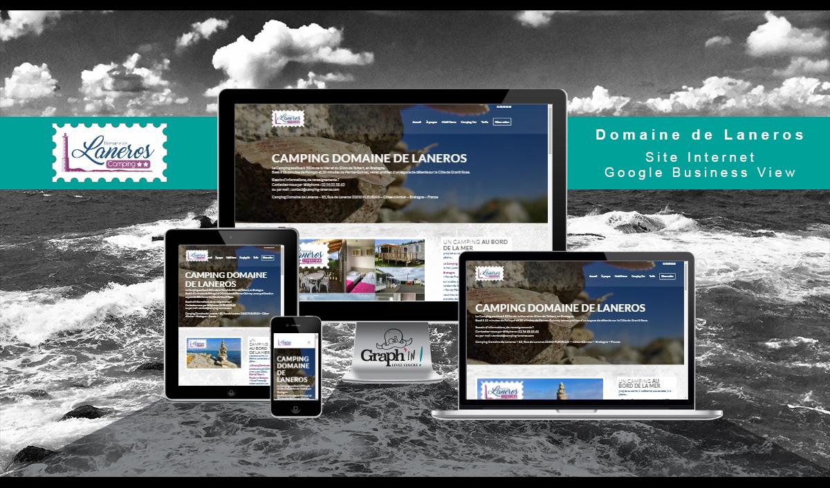 Site web Camping de Laneros Bretagne - Graph'in !