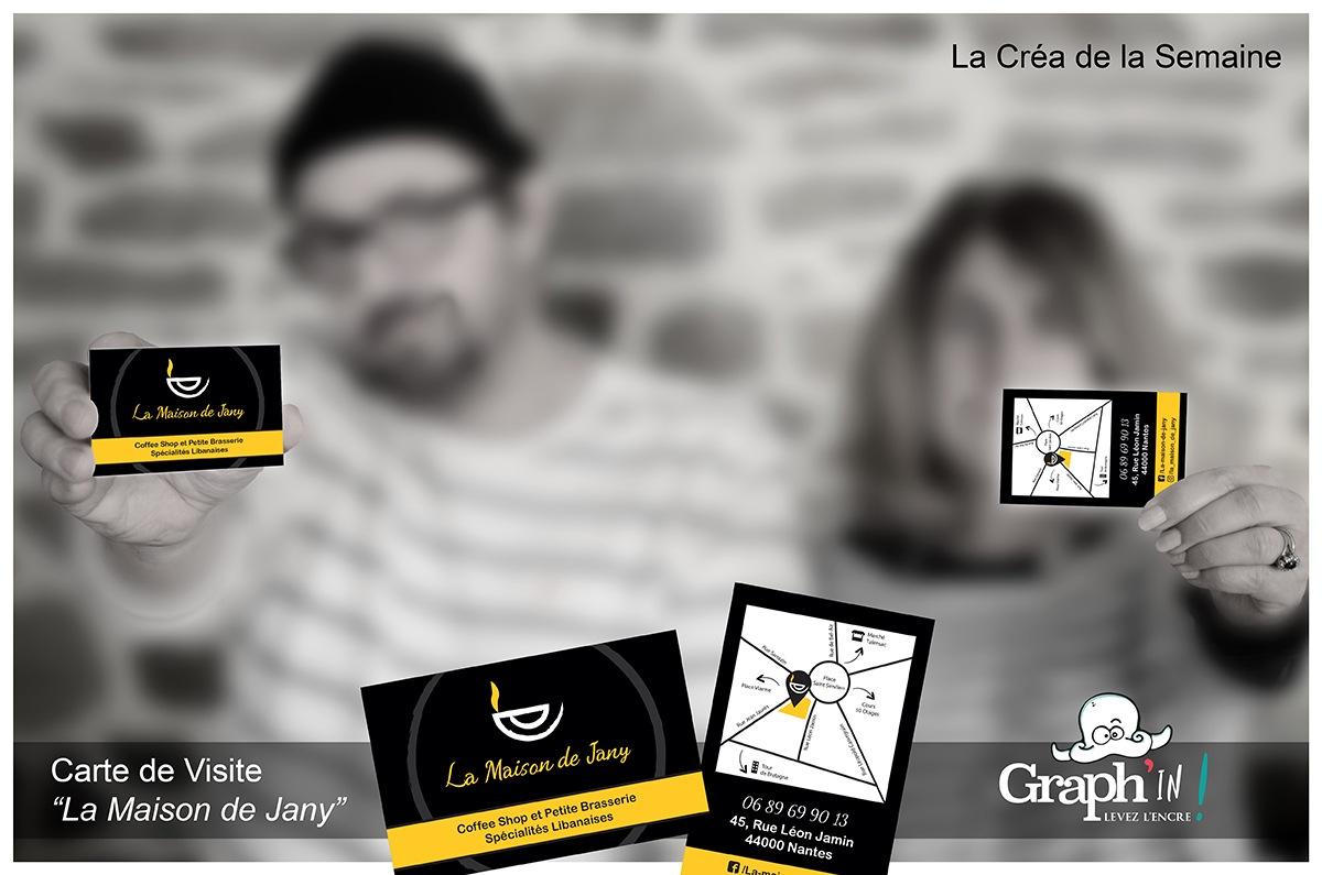 Carte de visite La Maison de Jany Nantes - Graph'in !