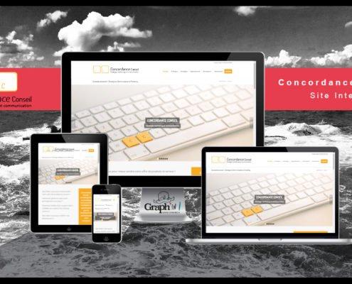 Site web Concordance Conseil Nantes - Graph'in !