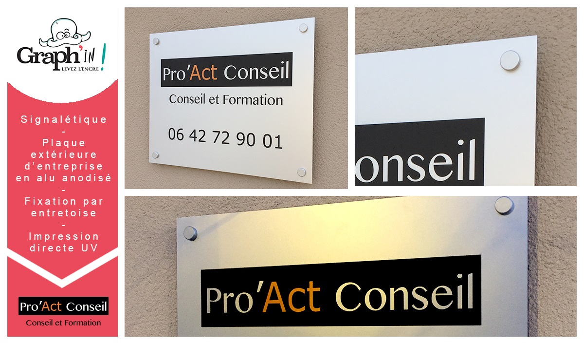Signalétique Pro Act Conseil Vertou - Graph'in !