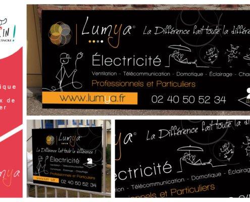 Panneau de chantier Lumya Nantes