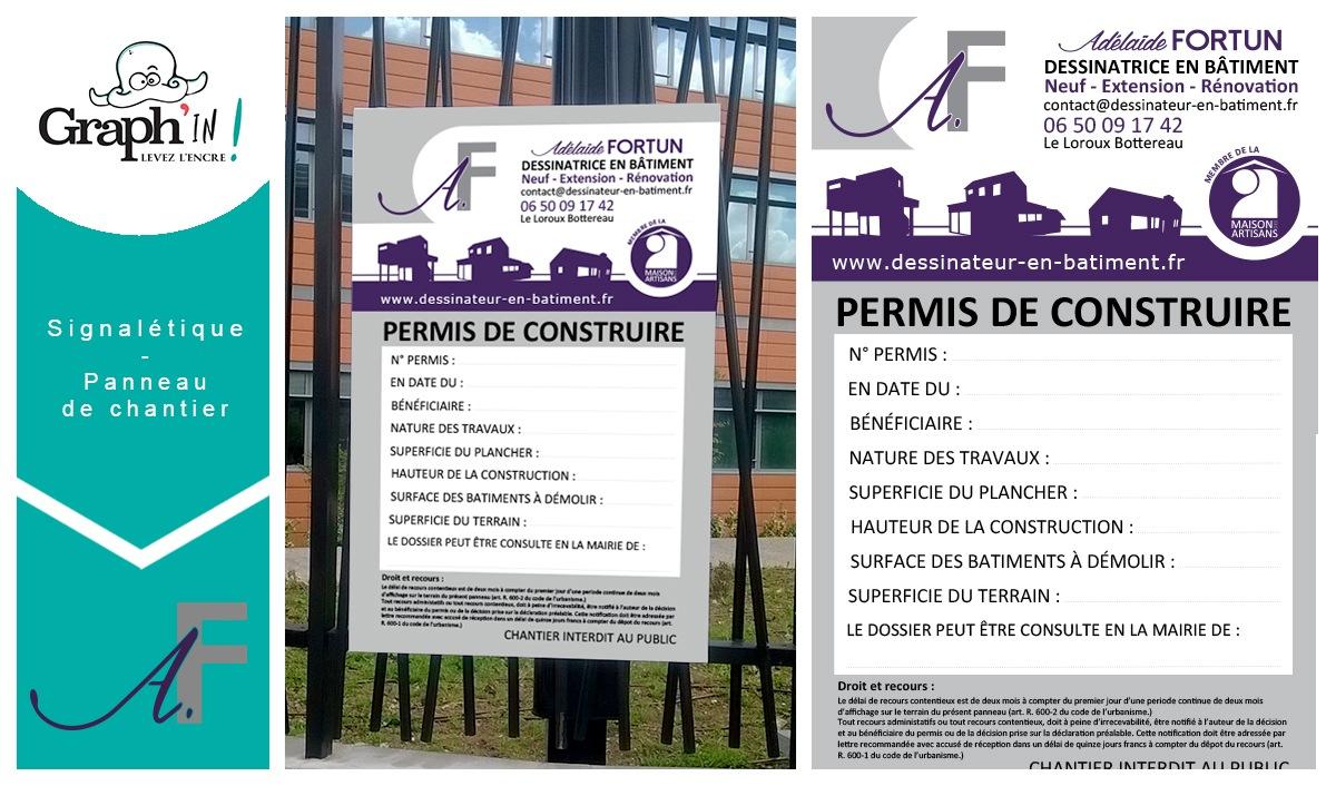 Panneau de chantier Le Loroux-Bottereau