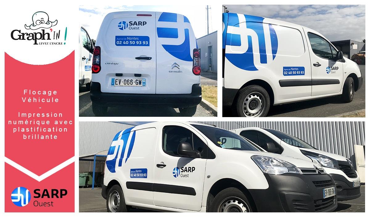 Marquage véhicule Sarp Ouest Nantes