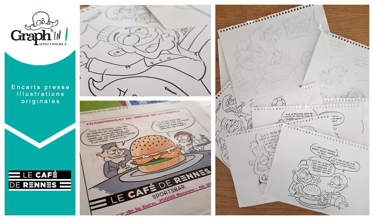 Illustration presse Café de Rennes