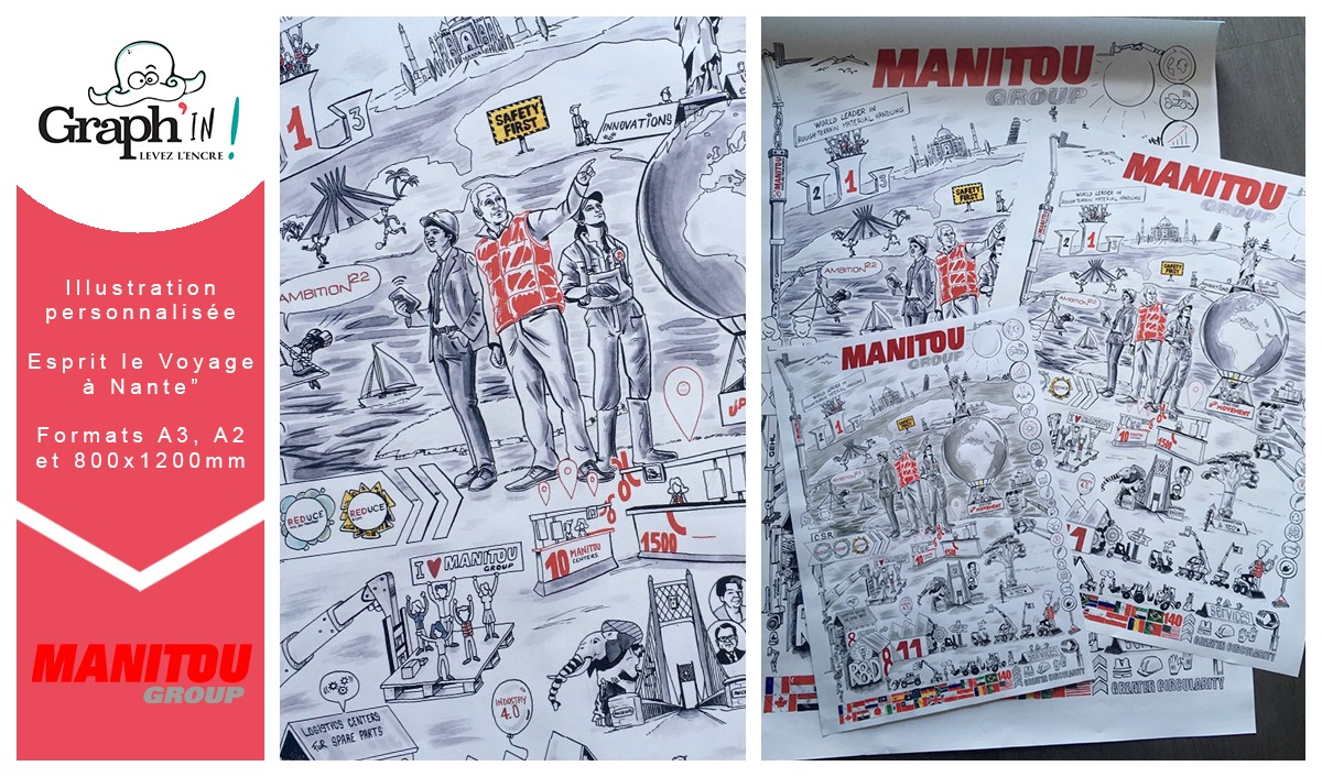 Illustration sur-mesure Manitou Group