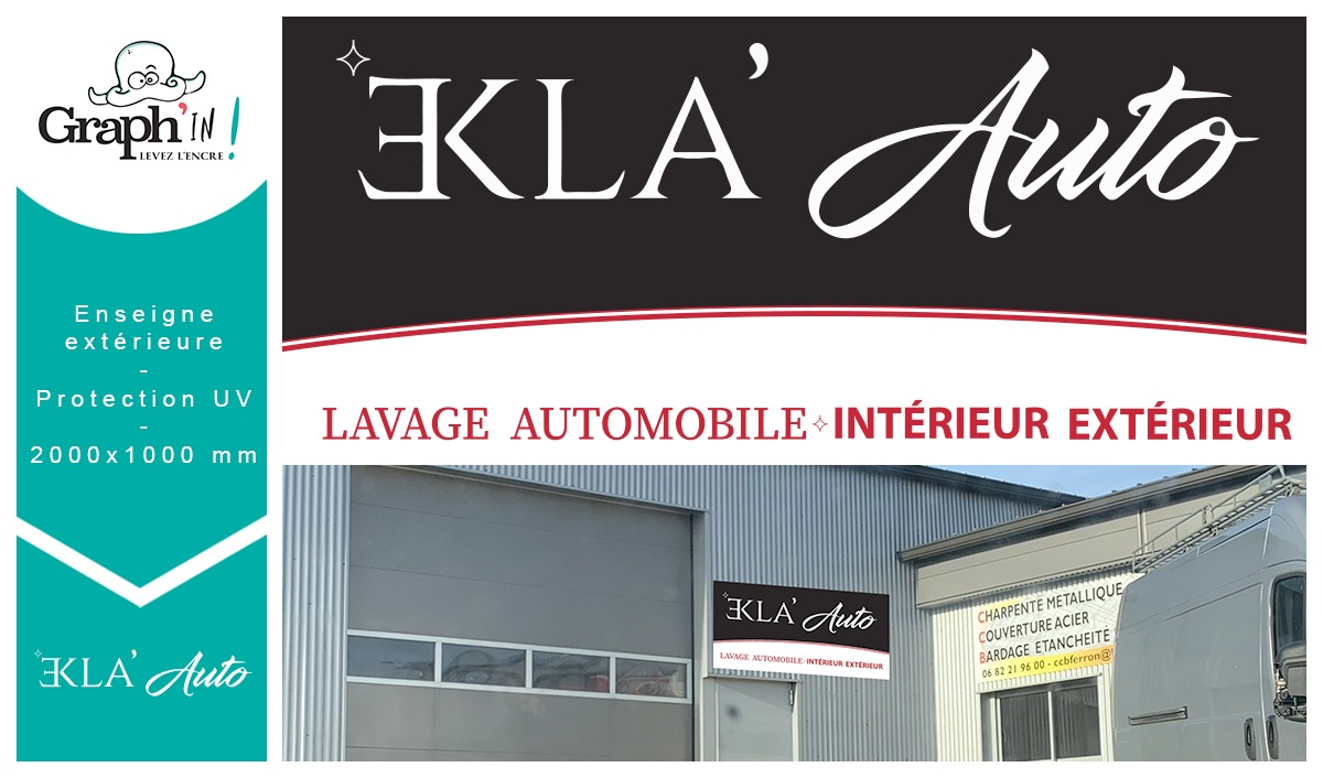 Enseigne Châteaubriant Ekla Auto