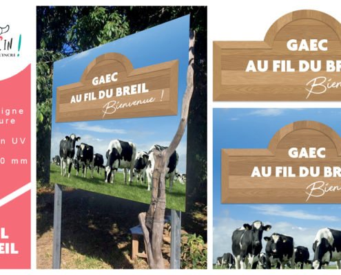 Pré-enseigne GAEC Bretagne