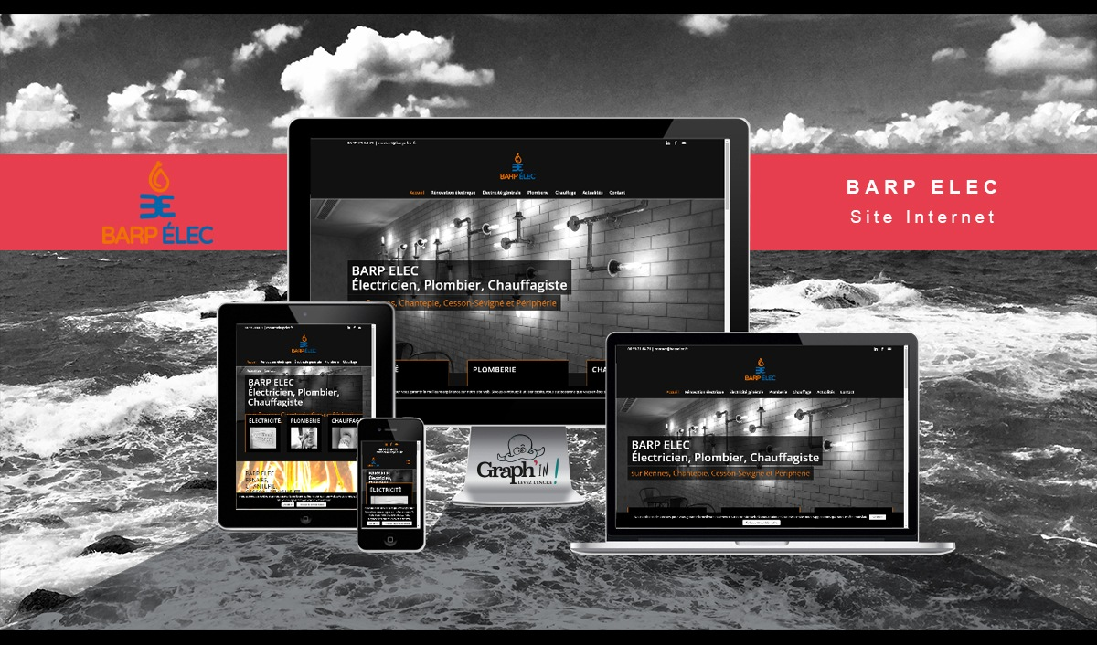 Site web Barp Elec Rennes