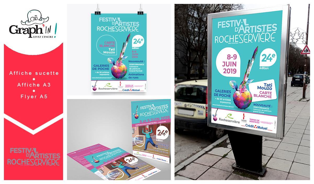 Affiche flyer festival Vendée