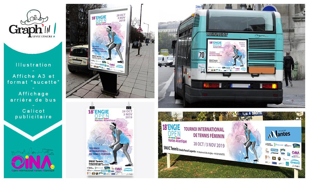 Affiche évènement tournoi sport Nantes