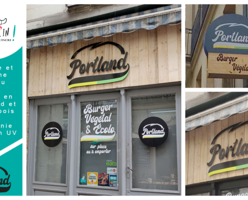 Enseigne restaurant Portland Nantes