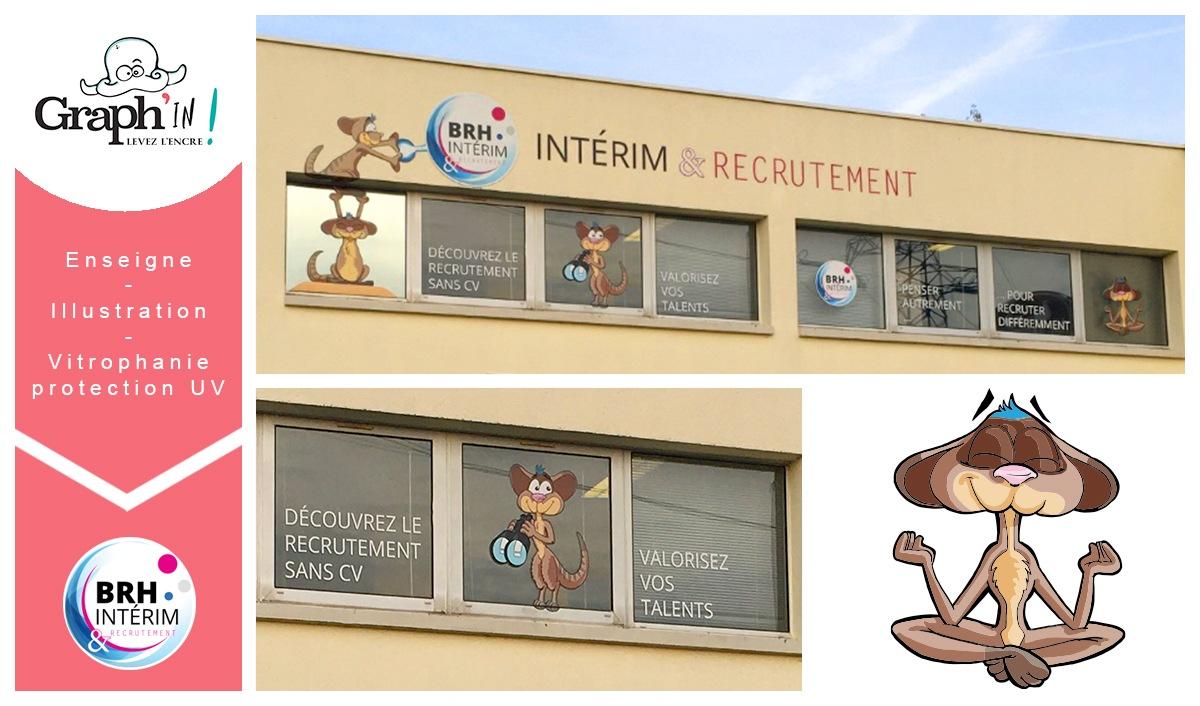 Enseigne BRH intérim Nantes
