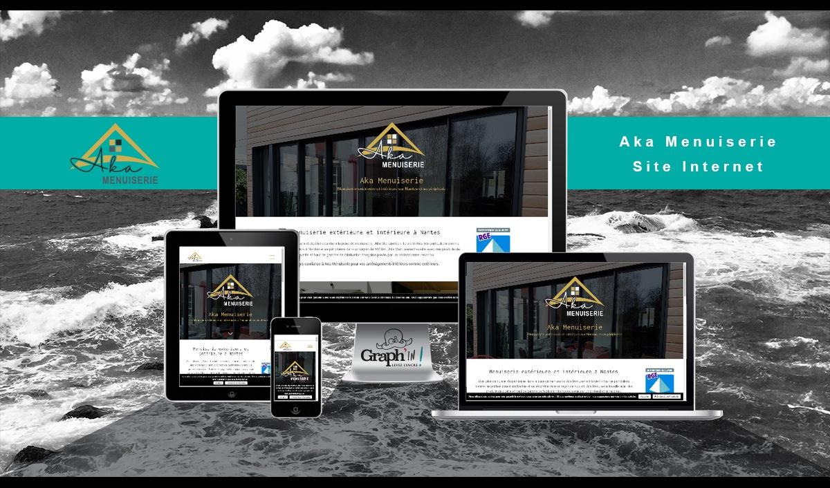 Site web Aka Menuiserie Nantes