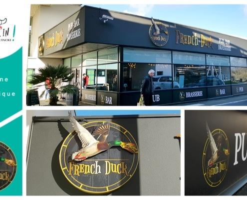 Enseigne pub brasserie Carquefou French Duck