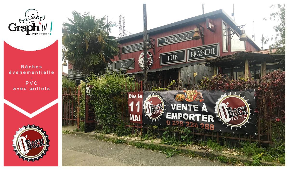 Bâche événementielle Pub Brasserie Nantes